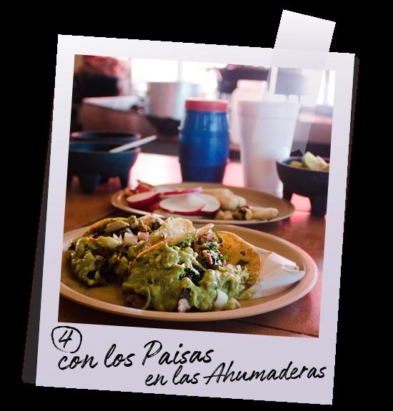 Ahumaderas tacos Bourdain